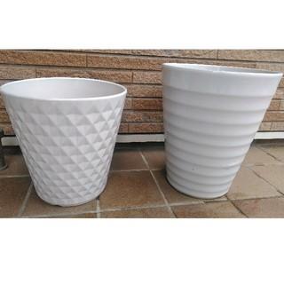 陶器鉢 2 個(プランター)