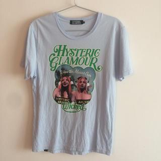 ヒステリックグラマー(HYSTERIC GLAMOUR)のヒステリックグラマー 水色 Tシャツ Sサイズ(Tシャツ/カットソー(半袖/袖なし))