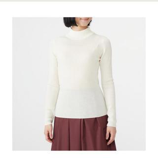 ムジルシリョウヒン(MUJI (無印良品))の新品未使用 無印良品 リブ洗えるハイネックセーター(ニット/セーター)