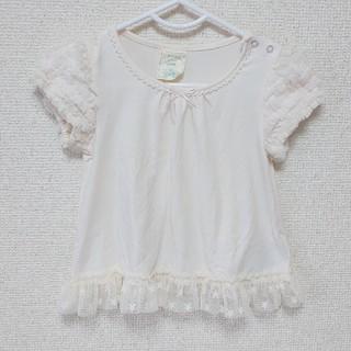 ジェラートピケ(gelato pique)の【大人気】gelatopique フリルスリーブ Tシャツ 80cm(Tシャツ)