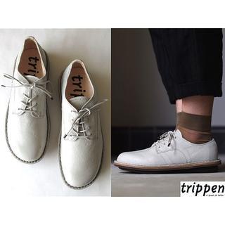 トリッペン(trippen)の新品 定価49680円 トリッペン レースアップレザーシューズ 39 ドイツ製(ローファー/革靴)