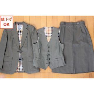 バーバリー(BURBERRY)のバーバリー スカート スーツ M ノバチェック 9号 tqe ★極美品★(スーツ)