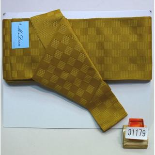 角帯 メンズ 結び不要 ワンタッチ 日本製 ポリ 夏 ゴールド NO31179(浴衣帯)
