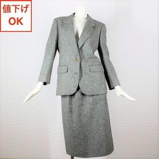 BURBERRY - バーバリー スカート スーツ 11 L 英国ツイード tqe 秋冬 ★新品同様★