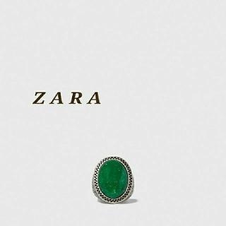 ZARA - ZARA ザラ ストーン付きメタルリング ストーンリング シルバーリング 指輪
