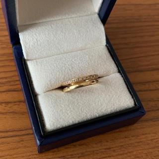 ヴァンドームアオヤマ(Vendome Aoyama)のヴァンドーム青山 ピンキーリング イエローゴールド 2連 ダイヤモンド(リング(指輪))