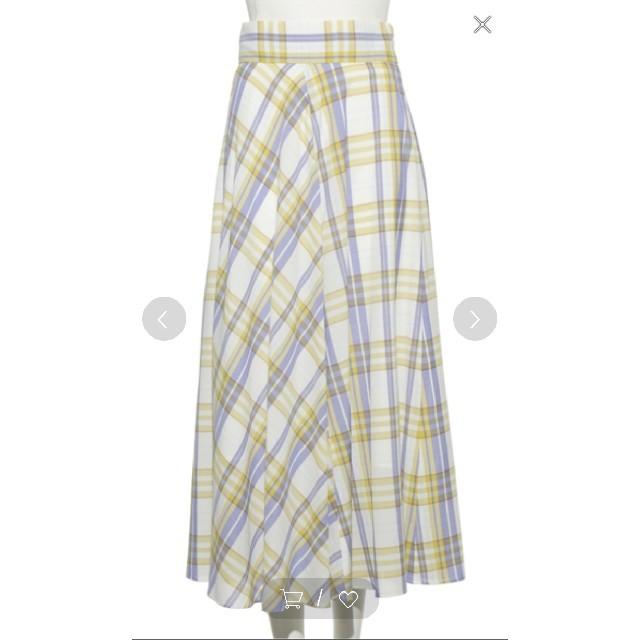 FRAY I.D(フレイアイディー)のフレイアイディー 今季 タグ付き 新品 スカート チェック レディースのスカート(ロングスカート)の商品写真