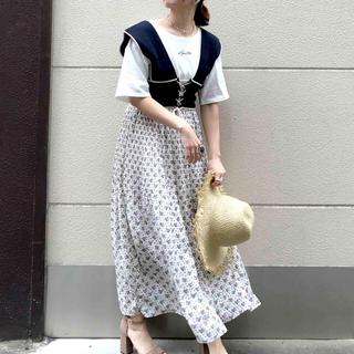 アルシーヴ(archives)の配色ビスチェ(キャミソール)