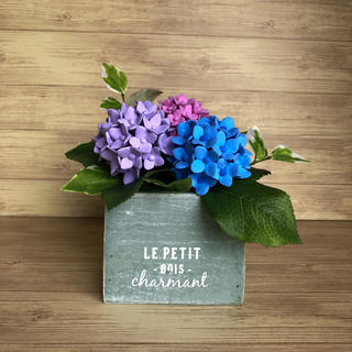 ソフトクレイフラワー 紫陽花(その他)