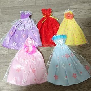 バービー(Barbie)のバービー barbie リカちゃんの可愛いドレス 写真の5着がセット(人形)