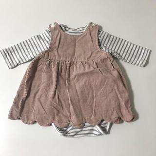 プティマイン(petit main)のジャンパースカート 長袖ロンパースセット(スカート)