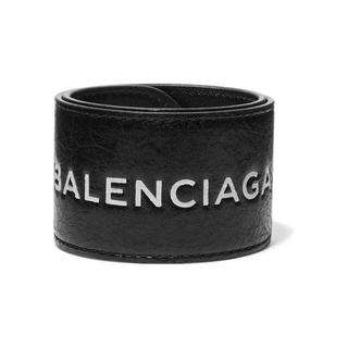 バレンシアガ(Balenciaga)のバレンシアガ レザースナップサイクルブレスレット 黒 X 白(ブレスレット/バングル)