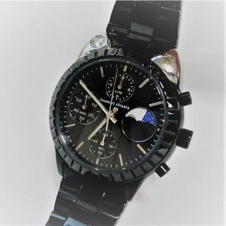 ツモリチサト(TSUMORI CHISATO)のツモリチサト ビッグキャット腕時計ブラック黒 レディース サン&ムーン 猫 ネコ(腕時計)