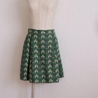 ジェーンマープル(JaneMarple)のjanemarple ゴールデングース ジャガード スカート(ミニスカート)
