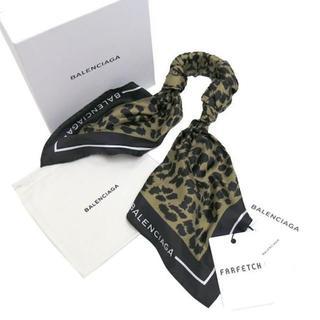 バレンシアガ(Balenciaga)の新品 BALENCIAGA レオパード柄 シルク スカーフ ブレスレット(ブレスレット/バングル)