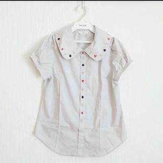 ジェーンマープル(JaneMarple)のJANE MARPLE ジェーンマープル トランプ ブラウス 刺繍 襟 衿(シャツ/ブラウス(半袖/袖なし))