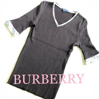 バーバリー(BURBERRY)のBURBERRY LONDON パーバリー半袖ニットセーター Mサイズ(ニット/セーター)