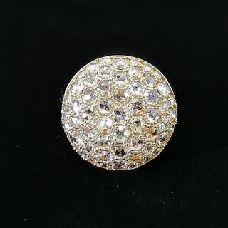 最強の宝石指輪 豪華で美人 ♦️ローズカットダイヤ♦️ 家宝です♥️K18YG(リング(指輪))