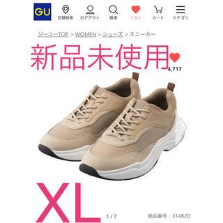 ジーユー(GU)のGU ダッドスニーカー 新品未使用 XL(スニーカー)