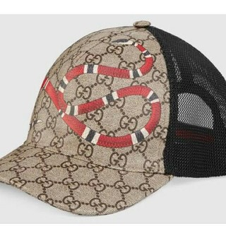 グッチ(Gucci)のGUCCI グッチ 帽子 ベースボールキャップ☆スネーク プリント(キャップ)