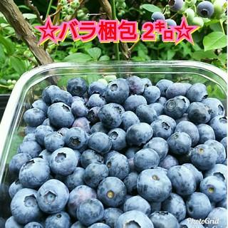 ☆生ブルーベリー☆バラ梱包2㌔(フルーツ)