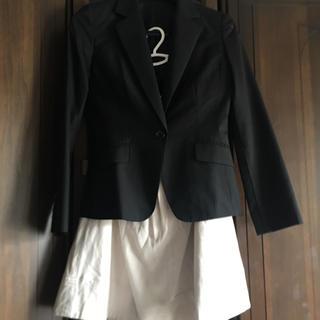 アオキ(AOKI)のジャケット 黒ストライプ(テーラードジャケット)