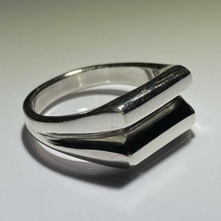 マルタンマルジェラ(Maison Martin Margiela)のsilver signetring silver925 リング スクエアリング (リング(指輪))