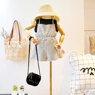 韓国子供服Mi♡スウェットオールインワン+タンクトップ120cm90cm(ワンピース)