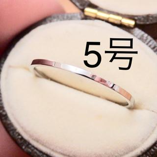 即購入OK♡ステンレス製シンプル華奢シルバーカラーリング指輪大きいサイズ(リング(指輪))