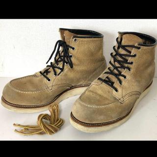 レッドウィング(REDWING)の四角犬タグ/レッドウイング/スエード/ブーツ/8173/モックトゥ/26.5cm(ブーツ)