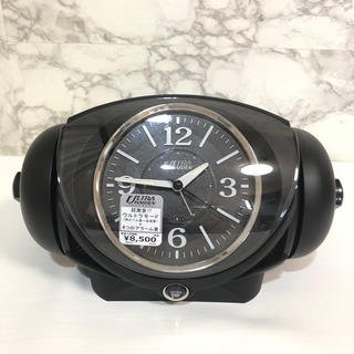 セイコー(SEIKO)の【新品未使用】ウルトラライデン 目覚まし時計 黒 ブラックPYIXS(置時計)