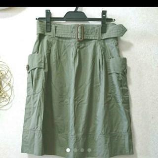 バーバリー(BURBERRY)の美品 バーバリー ベルト付きスカート セオリー ロンハーマン トゥデイフル(ひざ丈スカート)