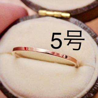 即購入OK● ステンレス製シンプル華奢ピンクゴールドカラーリング指輪大きいサイズ(リング(指輪))