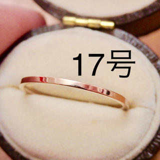 即購入OK●ステンレス製シンプル華奢ピンクゴールドカラーリング指輪大きいサイズ(リング(指輪))