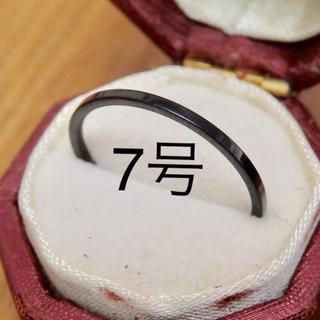即購入OK♡ステンレス製シンプル華奢ブラックカラーリング指輪大きいサイズ(リング(指輪))