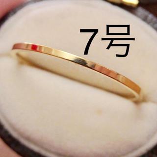 即購入OK●ステンレス製シンプル華奢イエローゴールドカラーリング指輪大きいサイズ(リング(指輪))