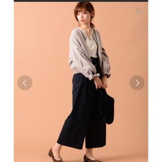 ナチュラルクチュール(natural couture)の袖リボンノーカラーブルゾン(ブルゾン)