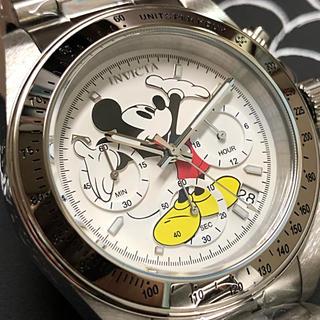 ディズニー(Disney)のinvicta インビクタ ディズニー ミッキーマウス シルバーホワイト文字盤(腕時計(アナログ))