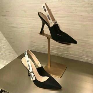 ディオール(Dior)のテクニカルファブリック J'ADIOR リボン バックストラップ パンプス (ハイヒール/パンプス)