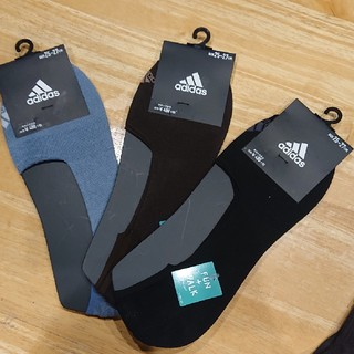 アディダス(adidas)のアディダス フットカバー 25~27㎝(ソックス)