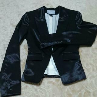 エイチアンドエム(H&M)のH&M ジャケット 黒/ブラック(テーラードジャケット)