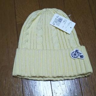 ドレスキップ(DRESKIP)の自転車のワッペン付きニット帽子(ニット帽/ビーニー)