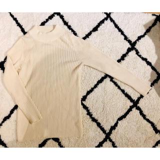 ムジルシリョウヒン(MUJI (無印良品))の無印良品 首のチクチクをおさえたワイドリブ洗えるハイネックセーター 美品(ニット/セーター)