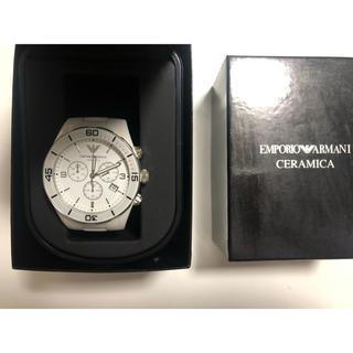 エンポリオアルマーニ(Emporio Armani)のARMANI アルマーニ 腕時計 セラミック ホワイト 白(腕時計(アナログ))