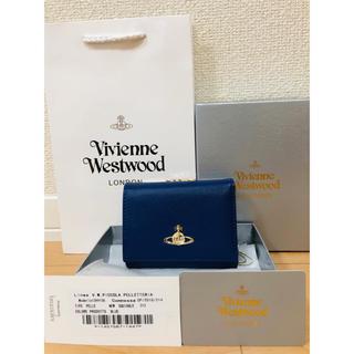 ヴィヴィアンウエストウッド(Vivienne Westwood)の新品未使用 正規品 ビビアンウエストウッド 財布 青 ブルー(財布)