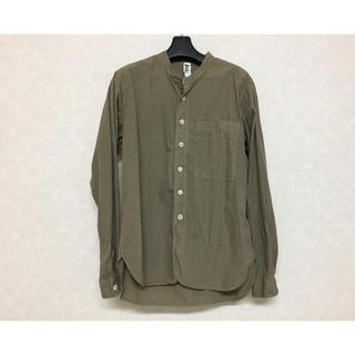 マーガレットハウエル(MARGARET HOWELL)のMHL, basic poplin 19ss ノーカラーシャツ(シャツ)