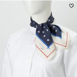 ユニクロ(UNIQLO)のシルク100%スカーフ(バンダナ/スカーフ)
