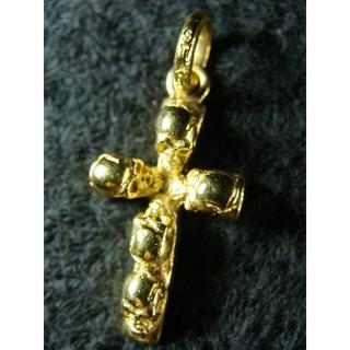 スタンリーゲス(STANLEY GUESS)のスタンリーゲスK18YG750金ゴールド5スカルドクロクロスネックレストップ(ネックレス)