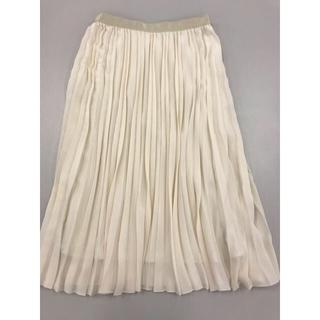 アナイ(ANAYI)のプリーツスカート オフホワイト(ロングスカート)
