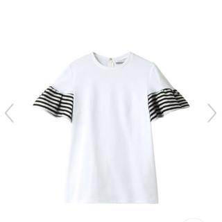 ドゥロワー(Drawer)のBORDERS at BALCONY ギャザースリーブTシャツ(Tシャツ(半袖/袖なし))
